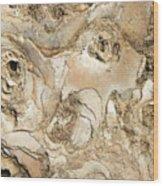 Golden Lava Wood Print