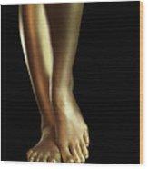 Golden Legs Wood Print