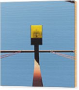 Golden Light - Golden Gate Bridge San Francisco California Wood Print