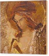 Golden Light Of Angel. Fragment Wood Print