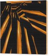 Golden Logs Wood Print