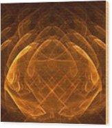 Golden Lotus Wood Print