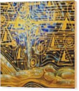 Golden Meditation Wood Print