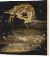 Golden Nostalgia Wood Print