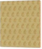 Golden Oldies Wallpaper Wood Print
