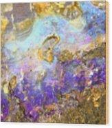 Golden Opal Wood Print