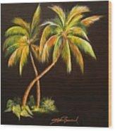Golden Palms 2 Wood Print