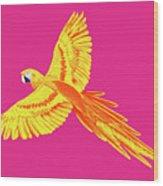 Golden Parrot Wood Print