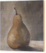 Golden Pear Wood Print