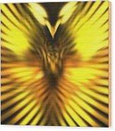 Golden Phoenix Wood Print