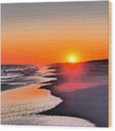 Golden Red Sunset Wood Print