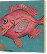 Golden Redfish Wood Print