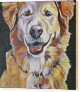 Golden Retriever Most Huggable Wood Print
