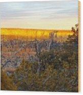 Golden Ridge Wood Print