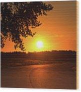 Golden Road Sunrise Wood Print