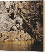 Golden Rocks Wood Print