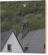 Golden Rooster St Sebastian Church Ehrenthal Germany Wood Print