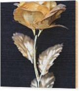 Golden Rose 1 Wood Print