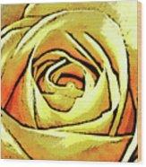 Golden Rose Flower Wood Print