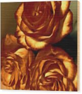 Golden Roses 3 Wood Print