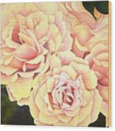 Golden Roses Wood Print