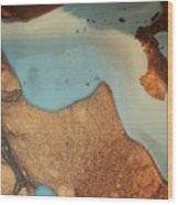 Golden Sandy Shores Wood Print