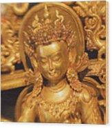 Golden Sculpture Wood Print