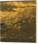 Golden Sea Waves Graphic Digital Poster Art By Navinjoshi At Fineartamerica.com Ideal For Wall Decor Wood Print