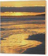 Golden Shore Wood Print