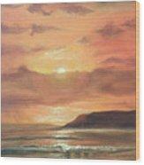 Golden Shoreline Wood Print