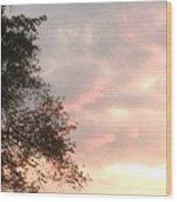 Golden Sky Wood Print