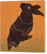 Golden Snare Wood Print
