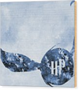 Golden Snitch-blue Wood Print