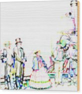 Golden Spike Railroad - Wating - 0749 J Wood Print