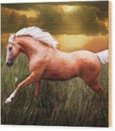 Golden Spirit Wood Print