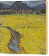 Golden Spring Wood Print