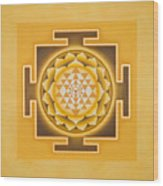 Golden Sri Yantra - The Original Wood Print