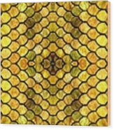 Golden Stained Glass Wood Print