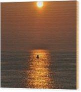 Golden Sun Wood Print