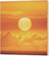 Golden Sunball Wood Print