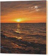 Golden Sundown Wood Print