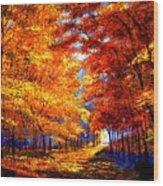 Golden Sunlight Wood Print by David Lloyd Glover