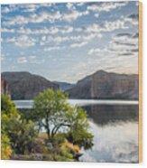 Golden Sunrise - Canyon Lake Wood Print