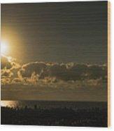Golden Sunrise Glow Delray Beach Florida Wood Print