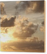 Golden Sunrise On Kauai Wood Print