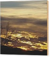 Golden Sunrise One Wood Print