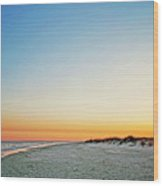 Golden Sunset At Destin Wood Print