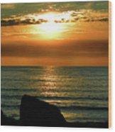 Golden Sunset At The Beach IIi Wood Print