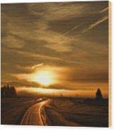 Golden Sunsets Wood Print