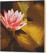 Golden Swamp Flower Wood Print